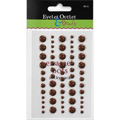 Brown - Eyelet Outlet Adhesive-Back Enamel Dot 60/Pkg