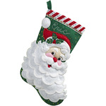 "18"" Long - Jolly Saint Nick Stocking Felt Applique Kit"