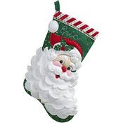 "18"" Long - Jolly Saint Nick Stocking Felt Applique Kit"
