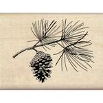 Pine Bough - Inkadinkado Christmas Mounted Rubber Stamp