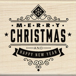 Christmas Greetings - Inkadinkado Christmas Mounted Rubber Stamp