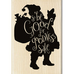 Be Good - Inkadinkado Christmas Mounted Rubber Stamp