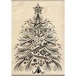 O Christmas Tree - Inkadinkado Christmas Mounted Rubber Stamp
