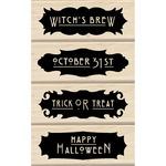 Phrases - Inkadinkado Halloween Mounted Rubber Stamp Set