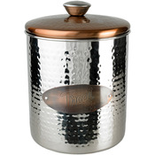 Hammered Stainless Steel & Copper Top Treat Jar 16oz