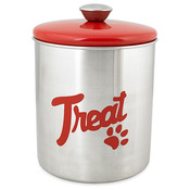 Red Top - Stainless Steel & Red Top Treat Jar 16oz