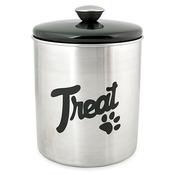 Stainless Steel & Black Top Treat Jar 16oz