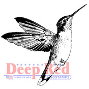 "Hummingbird - Deep Red Cling Stamp 2""X1.75"""