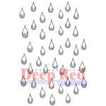 "Rain Drops - Deep Red Cling Stamp 2""X3"""