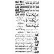 Inspirational Clear Stickers - KaiserCraft