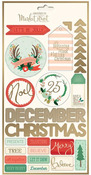 Christmas On Market Street Cardstock Label Stickers - My Minds Eye