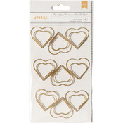 Heart - Designer Desktop Essentials Jumbo Paper Clips 9/Pkg
