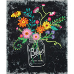 """10""""X12"""" Stitched In Thread - Believe In Your Dreams Stamped Embroidery Kit"""