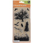 Haunted Fields - Inkadinkado Halloween Clear Stamps
