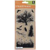 Haunted Fields - Inkadinkado Halloween Clear Stamps