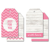 """Just For You Pink - Tag Pack 2""""X3.25"""" 12/Pkg"""