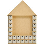 Beyond The Page MDF Shadow Box Advent House Calendar