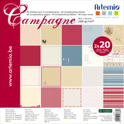 "2 Each Of 20 Designs - Artemio Campagne Papers 12""X12"" 40/Pkg"