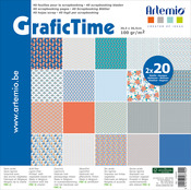 "2 Each Of 20 Designs - Artemio GraficTime Papers 12""x12"" 40/Pkg"