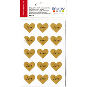 "Love, 1"" - Artemio Kraft Labels 60/Pkg"