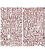 Red - Artemio Alphabet Glitter Stickers