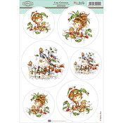 "Cozy Christmas - Wee Stamps Topper Sheet 8.3""X12.2"""