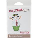 """Snowman Cupcake 2.4""""X3.5"""" - CottageCutz Die"""