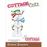 "Stacked Snowmen 1.8""X3.5"" - CottageCutz Die"