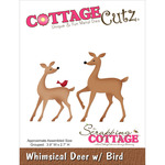 "Whimsical Deer W/Bird 3.9""X2.7"" - CottageCutz Die"