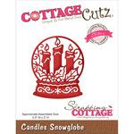"""Candles Snowglobe 2.5""""X3"""" - CottageCutz Elites Die"""