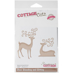"""Deer Sitting & Standing 1.9"""" To 3.5"""" - CottageCutz Elites Die"""