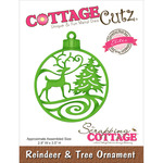 "Reindeer & Tree Ornament 2.9""X3.5"" - CottageCutz Elites Die"
