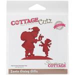 """Santa Giving Gifts 3.2""""X3.2"""" - CottageCutz Elites Die"""