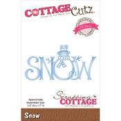 """Snow 3.5""""X1.7"""" - CottageCutz Elites Die"""