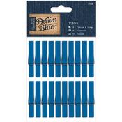 Clothespins - Papermania Denim Blue Pegs 20/Pkg