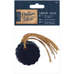 Scalloped Circle - Papermania Denim Blue Tags 6/Pkg