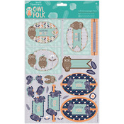 Older & Wiser - Papermania Owl Folk A4 Decoupage Pack