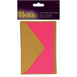 Pink - Papermania Neon Cards W/Envelopes 3/Pkg