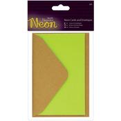 Yellow - Papermania Neon Cards W/Envelopes 3/Pkg