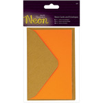 Orange - Papermania Neon Cards W/Envelopes 3/Pkg
