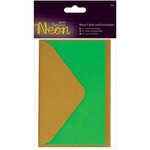 Green - Papermania Neon Cards W/Envelopes 3/Pkg