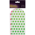 Pink & Green - Papermania Neon/White Paper Bags 6/Pkg