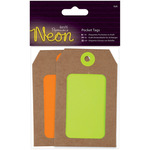 Yellow & Orange - Papermania Neon Pocket Tags 4/Pkg