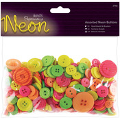 Papermania Neon Assorted Buttons 250g