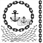 "Nautical Chains - Crafter's Workshop Template 12""X12"""