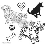 """Doggies - Crafter's Workshop Template 12""""X12"""""""