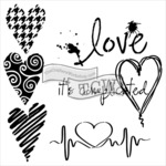 """Complicated Hearts - Crafter's Workshop Template 6""""X6"""""""