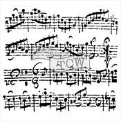 "Sheet Music - Crafter's Workshop Template 6""X6"""