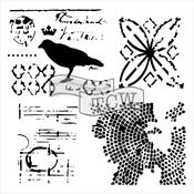 """Raven Mosaic - Crafter's Workshop Template 6""""X6"""""""
