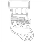 """Christmas Stocking - Crafter's Workshop Fragments Templates 4""""X4"""""""